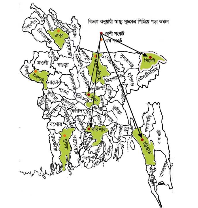 বাংলাদেশ ম্যাপ